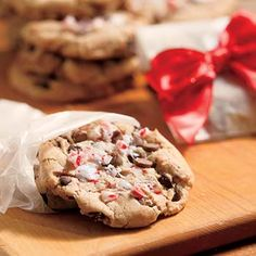 Peppermint Crush Chocolate Chip Cookies Recipe. A new holiday twist on the classic Chocolate Chip Cookie.