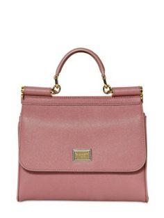 4b0a698f6a70 Dolce   Gabbana - Pink Miss Sicily Slim Saffiano Leather Bag - Lyst