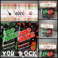 This would be a great party favor for a kids birthday party Thanks for coming to my party ~ You ROCK!