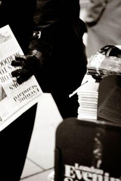 Newspaper.  London, UK, 2014, Canon EOS 600 D.  #street #photography #street #blackandwhite #black #white #bnw #bw #capture #taxi #newspaper #fashion #london #straße #strasse #straßenfotografie #london #city #cities #cityscape #england #uk #road #travel #art #etsy #society6 #sepia #canon #50mm #canoneos600d