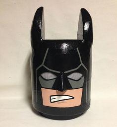 Custom made to order LEGO inspired Batman Costume Head