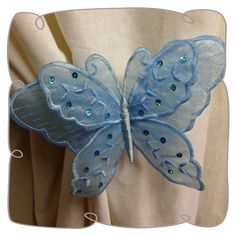 3D Organza Lace Butterfly 1 Machine Embroidery Pattern Design