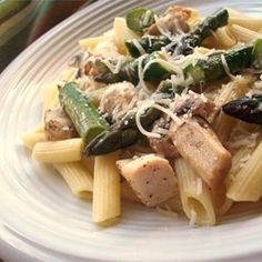 Penne with Chicken and Asparagus Allrecipes.com