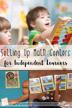 My tips and tricks for setting up math centers that students can do independently. Great for guided math, math workshop, or small groups! Kindergarten Freebies, Kindergarten Classroom, Classroom Activities, Classroom Ideas, Kindergarten Centers, Guided Math, Math Math, Preschool Math, Math Stations