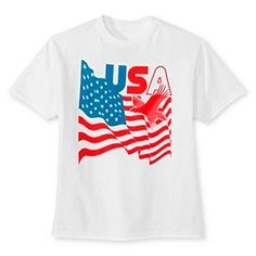 Boys' USA Flag Americana Graphic T-Shirt - White