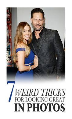 7 Weird Tricks for Looking Great in Photos: There's a reason why celebrities like Sofia Vergara and Joe Manganiello look amazing in photos. Yes, they're genetically blessed, but they also know some posing tricks that make any picture super flattering. Photography 101, Photography Tutorials, Photography Business, Children Photography, Digital Photography, Landscape Photography, Photography Hashtags, Photography Website, Underwater Photography