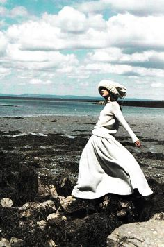 """""""Celtic Chic"""": Angela Lindvall photographed by Mario Testino for US Vogue September 1998"""