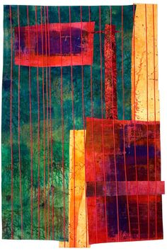 Love the colors and the vertical line quilting