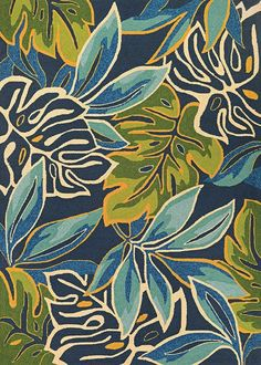Couristan Covington Areca Palms Azure Forest Green Area Rug is a blue tropical rug made of the finest fiber-enhanced Courtron polypropylene, its water resistant and even considered pet friendly. Outdoor Area Rugs, Indoor Outdoor, Outdoor Spaces, Outdoor Patios, Outdoor Kitchens, Outdoor Living, Painting Inspiration, Art Inspo, Arte Pop