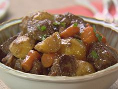 Slow-Cooker Stout Beef Stew Recipe : Trisha Yearwood : Food Network - cut out the flour and sugar Crock Pot Slow Cooker, Crock Pot Cooking, Slow Cooker Recipes, Crockpot Recipes, Soup Recipes, Cooking Recipes, Recipies, Crockpot Dishes, Burger Recipes
