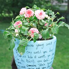 Make this easy flower pot using spray paint, a sharpie, and a good tune!