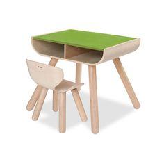 Für kleine Kreative: Dieser Kindertisch lässt sich nach Herzenslust bemalen.