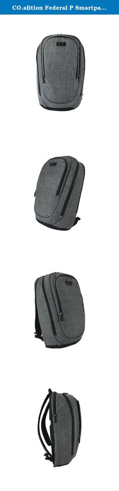 CO.alition Federal P Smartpack with Power, Cement/Light Grey. CO.alition federal solves modern carry needs by evolving carry to truly incorporate mobile technology in a world where people are constantly moving. Until now, there has never been carry products that have technology integrated into their very fabric that actually works with and empowers the rest of your devices. CO.alition colfax unites the old world of fabrics and new world of electronics and integrates them together in a way...