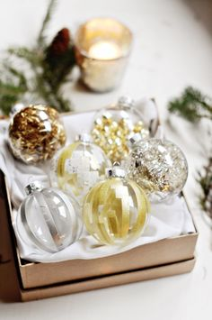 Give your Christmas ornaments a personal DIY touch | DIY Holiday Christmas Ornaments