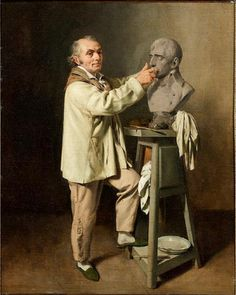 Jean-Antoine Houdon sculpting the bust of First Consul Bonaparte, 1802-1803, by Louis Leopold Boilly Napoleon Movie, French Sculptor, Photo Portrait, Paintings I Love, Reproduction, Ceramic Artists, Artist At Work, Love Art, Art History