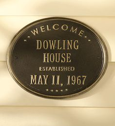 Personalized Oval House Sign   Address Signs