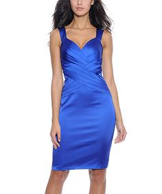 Take a look at this Decode 1.8 Sapphire Sweetheart Neckline Dress - Women on zulily today!
