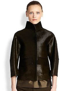 Jil Sander Calf Hair Jacket - Green     $5,760.00