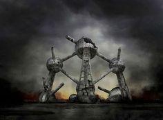 Kıyamet sonrası dünya Brüksel Bu kıyamet senaryolarında her şehrin en ünlü simgesi kullanılmış.