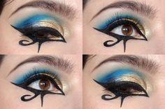Make Up Playtime: Last Pharaoh Makeup Inspo, Makeup Art, Makeup Inspiration, Beauty Makeup, Makeup Pics, Makeup Ideas, Egyptian Eye Makeup, Cleopatra Makeup, Cleopatra Costume