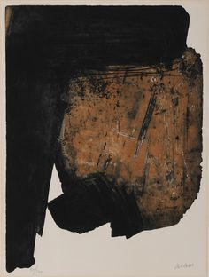 "Pierre Soulages, ""Eau-Forte XIV"", Aquatint etching"