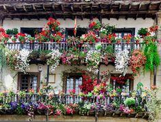Balcones floridos.