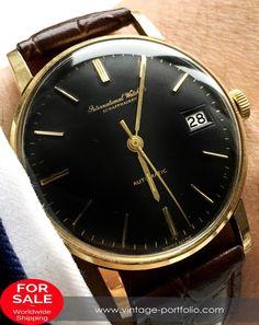 Wonderfull IWC Automatic Automatik solid gold black dial #Vintage#style#luxury#businessattire#gentlemanstyle#lifestyle#menstagram#mensaccesories#dapper  #militarywatches