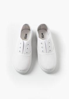 Zapatillas de lona lisas TEX (Tallas 31 a 39) bc8785cb85a