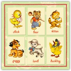 Vintage Animal Illustrations | My Retro Baby Blog - coolest baby stuff on the planet!: Vintage ...