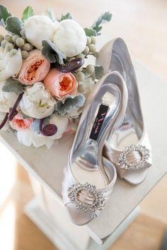 Silver bridal shoe ideas