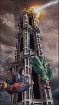 The Tower - The Pictorial Key Tarot.