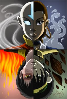 4 Corners 4 Elements 4 Friends..bbuuutt everybody forgets Sokka and his space sword..