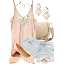"""""""Summer Pastels"""" by qtpiekelso on Polyvore"""