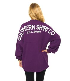 Southern Shirt Company L/S Jersey Pullover Shirt Grape - MetroShoe Warehouse Cool Shirts, Tee Shirts, Tees, Style And Grace, My Style, Southern Shirt Company, Red Sangria, Prep Style, Oversized Tee