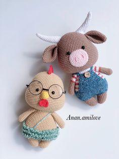 Easy Crochet Animals, Crochet Animal Patterns, Stuffed Animal Patterns, Crochet Patterns Amigurumi, Crochet Dolls, Crochet Rabbit, Crochet Bunny, Cute Crochet, Crochet Crafts