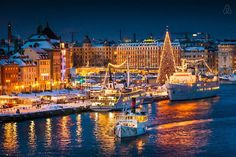 Towns in Sweden Croatia Travel, Thailand Travel, Bangkok Thailand, Italy Travel, Wonderful Places, Beautiful Places, Sweden Christmas, Places To Travel, Places To Visit