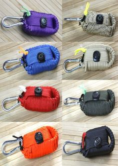 Here are all of the colors the Z.A.P.S Gear Survival Grenade is currently available in. Get one at www.zapsgear.com.