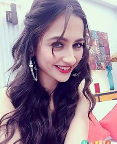 Red lips with blue kohl sanjeeda