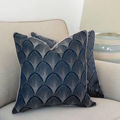 Nouveau cushion cover, navy blue pillow, Square cushion,Piped cushion cover, floral cushion,Range pattern, Decorative cover pillow, 45x45cm Navy Blue Cushions, Boho Cushions, Purple Pillows, Floral Cushions, Orange Pillows, Decorative Cushions, Decorative Pillow Covers, Light Navy Blue, Pipe Decor