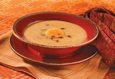 Kabocha Squash Soup with Crispy Bacon... a great alternative to potato ...