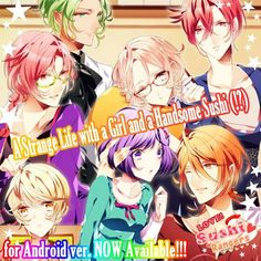 """For Android users!!! Android>> https://play.google.com/store/apps/details?id=com.koyonplete.osushi  """"Love Academy""""'s excitement is coming back!! otome game """"Love! Sushi Rangers"""" coming soon!!!! Middlein May Release!!   You are the heroine! Enter a nickname you like and it will appear in game! Hunt down the target you like!  Selecting the right answers will make them like you more!  12 different endings with different guys that will make your heart skip a beat XD!!!!!   #koyonplete…"""