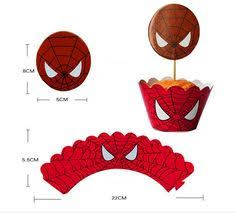 free printable cupcake wrappers and toppers with spiderman ile ilgili görsel sonucu