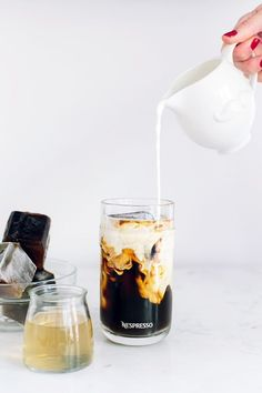 Caramel Iced Coffee with Coffee Ice Cubes for summer entertaining