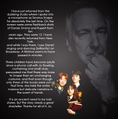 Oh Alan Rickman .... you are inspiring