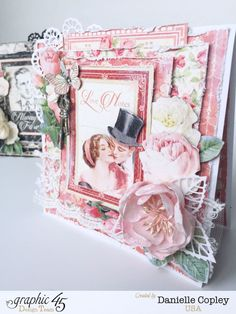 Opposites Attract Card Duo, Mon Amour, by Danielle Copley, Product by Graphic 45