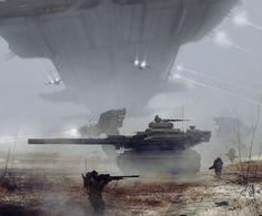 Polish Army 2215, Jakub Rozalski on ArtStation at https://www.artstation.com/artwork/D5YR