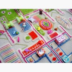 kids rug with 3D design including furniture via carpet pile. WANT!!! | Danish by Design