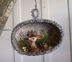 Woodland Deer Ornament by Katie Runnels, via Flickr