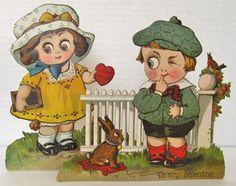 Googly Eye Children Vintage Mechanical Pop-Up Valentine