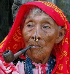 Elderly native San Blas Islands, Panama